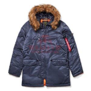 Куртка-парка Alpha Industries SLIM FIT N-3B (Steel Blue/Orange)