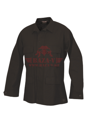 Китель классической полевой формы TRU-SPEC Classic BDU Coat (Однотонный) 100% Cotton RipStop (Black)