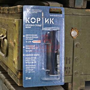 Газовый (перцовый) баллончик Техкрим Кортик в защитном футляре, аэрозольно-струйный, 25мл