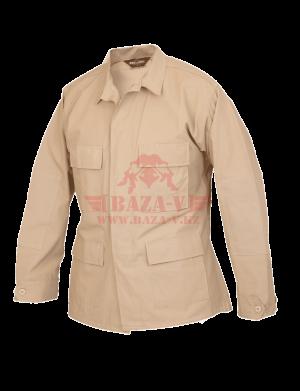 Китель классической полевой формы TRU-SPEC Classic BDU Coat (Однотонный) 100% Cotton RipStop (Khaki)