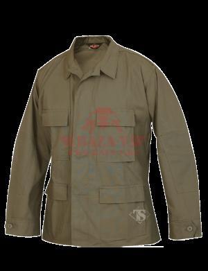 Китель классической полевой формы TRU-SPEC Classic BDU Coat (Однотонный) 100% Cotton RipStop (Olive)
