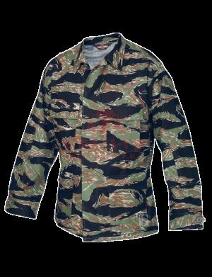 Китель классической полевой формы TRU-SPEC Classic BDU Coat (CAMO) 100% Cotton RipStop (Vietnam Tiger Stripe)