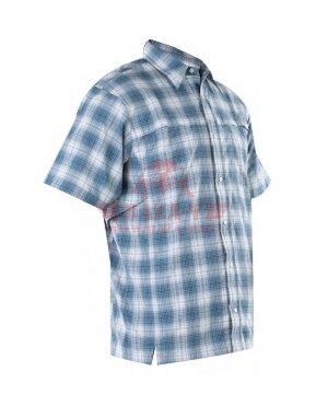 Мужская рубашка с коротким рукавом TRU-SPEC Men's 24-7 SERIES® Plaid Camp Shirt (Blue)