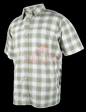 Мужская рубашка с коротким рукавом TRU-SPEC Men's 24-7 SERIES® Plaid Camp Shirt (Green)