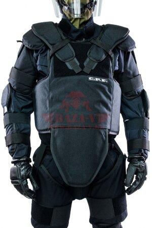 Противоударный жилет C.P.E.® Chest Guard 05-14 (Класс защиты NIJ III-A с возможностью установки защитных плит от ножа и шила)