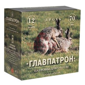 Патрон охотничий Главпатрон 12/70, дробь №3, 32г
