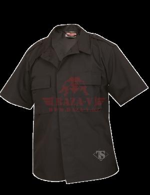 Тактическая рубашка с коротким рукавом TRU-SPEC Short Sleeve Tactical Shirt 6.5 oz 65/35 PC Rip-Stop (Black)