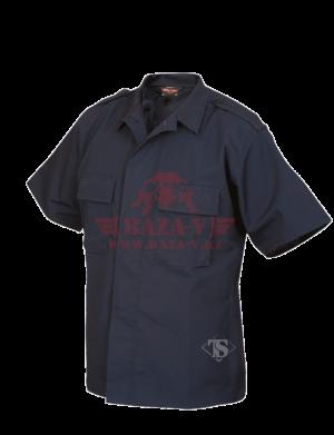 Тактическая рубашка с коротким рукавом TRU-SPEC Short Sleeve Tactical Shirt 6.5 oz 65/35 PC Rip-Stop (Navy)