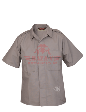 Тактическая рубашка с коротким рукавом TRU-SPEC Short Sleeve Tactical Shirt 6.5 oz 65/35 PC Rip-Stop (Grey)