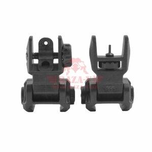 Комплект складные мушка и целик, низкие DLG Tactical (DLG-166 Black)