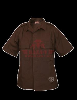 Тактическая рубашка с коротким рукавом TRU-SPEC Short Sleeve Tactical Shirt 6.5 oz 65/35 PC Rip-Stop (Brown)