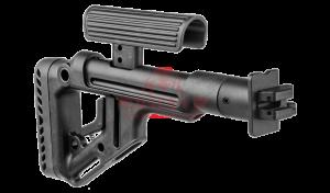 Приклад складной на Вепрь-12 FAB-Defense UAS-VEPR с регулируемым подщечником (Black)
