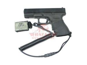 Тренчик жесткий 5мм J-Tech® Tactical Antiskid Pistol Grip Lanyard - Coiled (Tight wire) (Black)