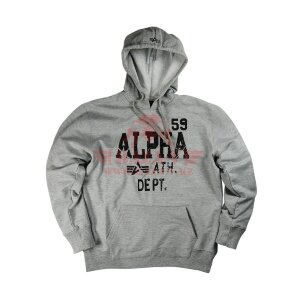 Толстовка Alpha Industries Athletic Department Hoodie (Heather Grey)
