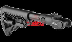 Приклад телескопический, складной FAB-Defense M4-AKMS (Black)