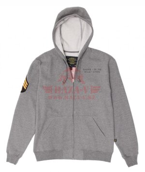 Толстовка Alpha Industries HUTTON HOODIE (Grey)