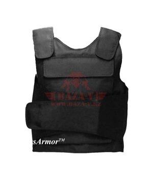Бронежилет Compass™ Security Bulletproof Vest (BPV-S01) (Класс защиты NIJ II-A, II, III-A с возможностью установки дополнительных бронеплит) (Black)
