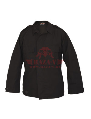 Тактическая рубашка с длинным рукавом TRU-SPEC Long Sleeve Tactical Shirt 4.5 oz. 65/35 PC Rip-Stop (Black)
