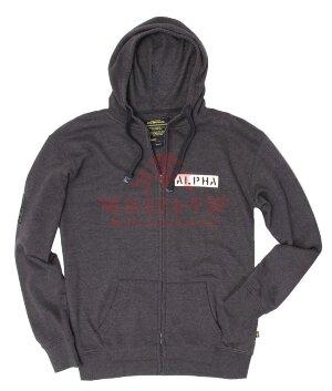 Толстовка Alpha Industries Tenure Hoodie (Charcoal)