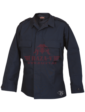 Тактическая рубашка с длинным рукавом TRU-SPEC Long Sleeve Tactical Shirt 6.5 oz. 65/35 PC Rip-Stop (Navy)
