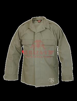 Тактическая рубашка с длинным рукавом TRU-SPEC Long Sleeve Tactical Shirt 6.5 oz. 65/35 PC Rip-Stop (Olive drab)