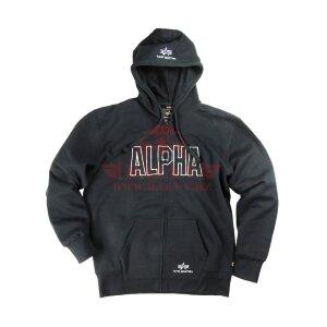 Толстовка Alpha Industries Track Hooded (Black)