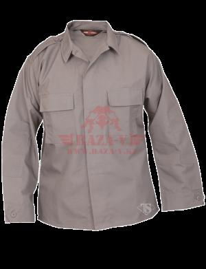 Тактическая рубашка с длинным рукавом TRU-SPEC Long Sleeve Tactical Shirt 6.5 oz. 65/35 PC Rip-Stop (Grey)