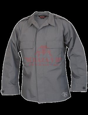 Тактическая рубашка с длинным рукавом TRU-SPEC Long Sleeve Tactical Shirt 6.5 oz. 65/35 PC Rip-Stop (Charcoal)