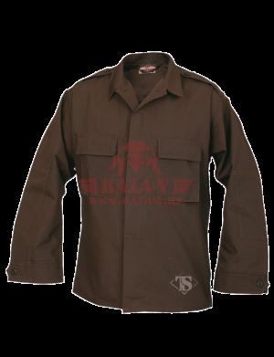 Тактическая рубашка с длинным рукавом TRU-SPEC Long Sleeve Tactical Shirt 6.5 oz. 65/35 PC Rip-Stop (Brown)