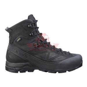 Зимние мембранные тактические ботинки Salomon X ALP GTX Forces (Black)