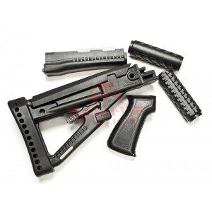 Комплект АА47 Archangel® для АК пистолетная рукоять, цевье, приклад (Black)