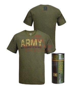 Милитари футболка TRU-Spec ARMY 100% Cotton (Olive drab)