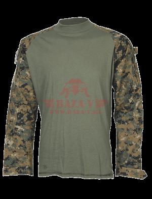 Тактическая рубашка TRU-SPEC TRU® Combat Shirt (Digital Camo) 65/35 PC Ripstop (WOODLAND DIGITAL)