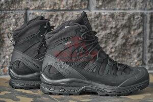 Тактические мембранные ботинки, стойкая к проколам подошва Salomon Quest 4D GTX Forces 2 EN (Black)