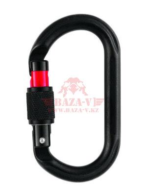 Карабин стальной PETZL® Oxan Screw-Lock с резьбовой муфтой (Black)
