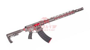 """Гладкоствольное ружье для IPSC Tigris XR12 Pro, 12х76, 16"""" в кейсе (Titanium/Red)"""