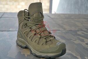 Тактические мембранные ботинки, стойкая к проколам подошва Salomon Quest 4D GTX Forces 2 EN (Ranger Green)