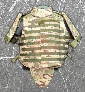 Бронежилет тактический военный Compass™ (BPJ-TA2) Класс защиты NIJ II-A, II, III-A с возможностью установки дополнительных бронеплит) (Woodland)