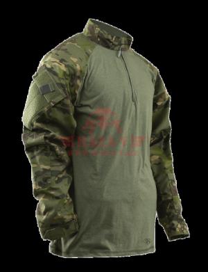 Тактическая рубашка TRU-SPEC TRU® 1/4 Zip Combat Shirt (Multicam) 50/50 Cordura® NyCo Ripstop (Multicam Tropic)