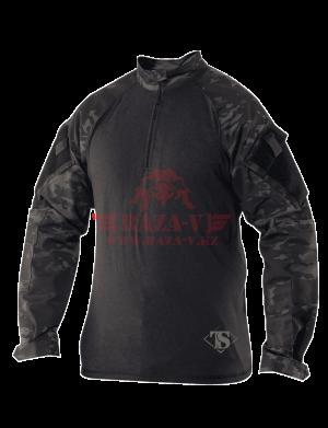 Тактическая рубашка TRU-SPEC TRU® 1/4 Zip Combat Shirt (Multicam) 50/50 Cordura® NyCo Ripstop (Multicam Black)