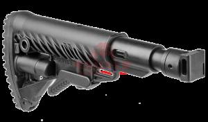 Приклад телескопический, складной FAB-Defense М4-SAIGA SB для САЙГА/AK с компенсатором отдачи