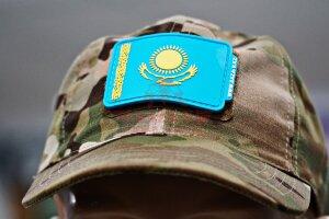 Патч Государственный флаг Республики Казахстан (нашивка с велкро)