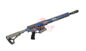 """Гладкоствольное ружье для IPSC Tigris XR12 Pro, 12х76, 16"""" в кейсе (Titanium/Blue)"""