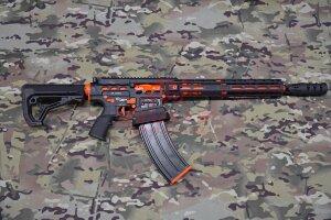 """Ружье для спортивной стрельбы Tigris XR12 Pro, 12 калибр, ствол 16"""" в кейсе (Black/Orange)"""