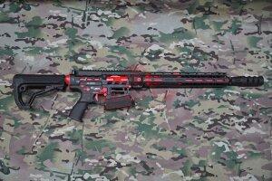 """Ружье для спортивной стрельбы Tigris XR12 Pro, 12 калибр, ствол 16"""" в кейсе (Black/Red)"""