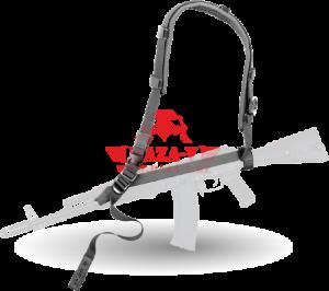 """Оружейный одноточечный, двухточечный ремень ДОЛГ-М3 """"Охота"""" Тактические Решения (Black)"""