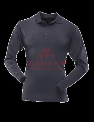 Мужское Поло с длинным рукавом TRU-SPEC Men's 24-7 SERIES® Performance Polo Shirt 100% Jersey Knit Polyester (Navy)