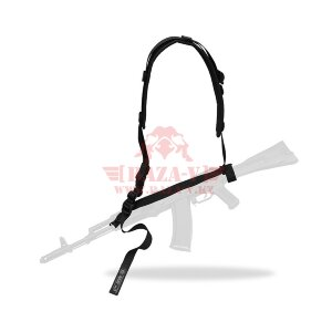 """Оружейный одноточечный, двухточечный ремень ДОЛГ-М3 """"Стандарт"""" Тактические Решения (Black)"""