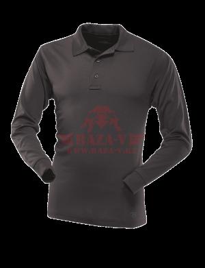 Мужское Поло с длинным рукавом TRU-SPEC Men's 24-7 SERIES® Performance Polo Shirt 100% Jersey Knit Polyester (Black)