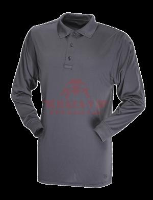 Мужское Поло с длинным рукавом TRU-SPEC Men's 24-7 SERIES® Performance Polo Shirt 100% Jersey Knit Polyester (Charcoal Grey)